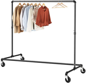 Greenstell Z base Garment Rack Industrial Pipe Style Clothes Rack On Wheels Z 1