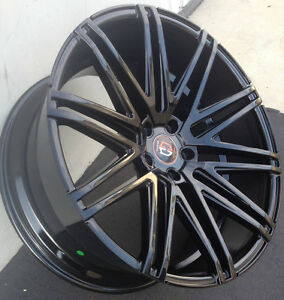 22 Inch Wheels Tires Black Concave New Fits Mercedes S550 Bentley Continental
