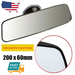 Universal 200mm Interior Rear View Mirror Suction Rearview Mirror For Car Truck