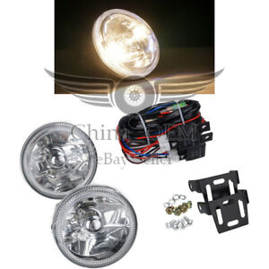 Clear Lens Fog Lights Led White Halo Universal 4 Round Chrome Housing Lamps
