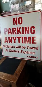 No Parking Violators Will Be Towed Away At Owner s Expense Sign 24 X 24 In Signs