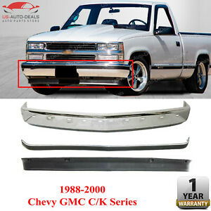 Front Bumper Chrome W Molding Lower Valance For 1988 2000 Chevy Gmc C K