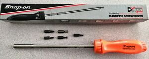Snap On Tools Ssdmr8a Long Hard Handle Ratcheting Screwdriver Orange New