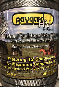 Baygard Hv 1 1 2 Poly Silver Electric Fence Horse Tape 656ft Equine Parmark