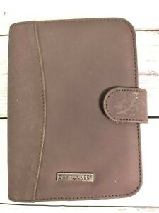 Day Runner 6 ring Binder Planner Personal Organizer Brown Faux Suede