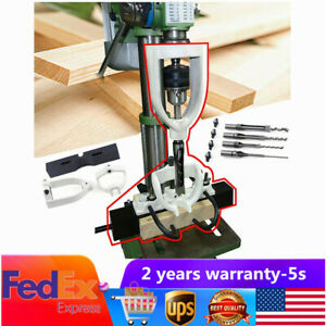 Woodworking Drilling Tenon Joint Locator For Bench Drill Machine Hole Jig Kit Us