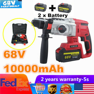 68v Electric Rotary Demolition Hammer Impact Drill Concrete Breaker 800w