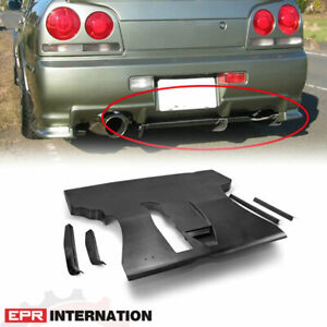 Fit For Nissan Skyline R34 Gtt Er36 Fiberglass Tape Esb Rear Under Diffuser