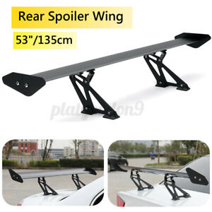 53 135cm Hatch Aluminum Car Auto Rear Trunk Gt Style Spoiler Wing Adjustable Us