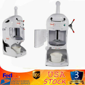 110v Commercial Ice Shaver Shaved Machine Electric Snow Cone Maker Fast Shipping