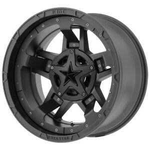 4 xd827 Rockstar 3 17x8 6x120 6x5 5 20mm Matte Black Wheels Rims 17 Inch