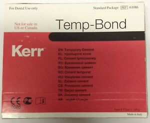 Tempbond Temporary Cement Tube Package