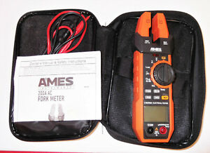 Ames Cm200a 200 A Fork Style Clamp Meter Used Original Box Complete Works Great