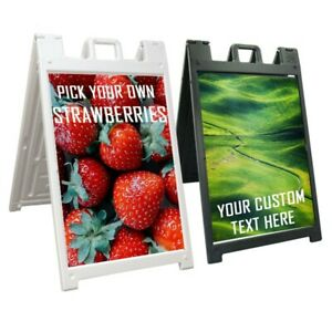 Replacement Sign A frame Sidewalk Custom Signicade Decal Sticker 24x36 No Board