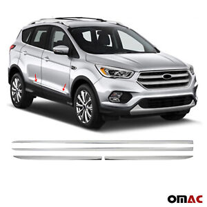 For Ford Escape 2013 2019 Chrome Side Body Molding Door Streamer Protector Steel