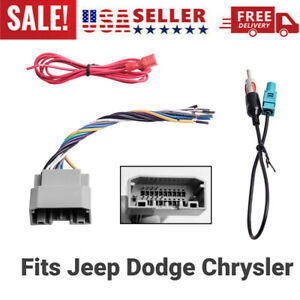 Car Stereo Radio Wiring Harness Antenna Adapter For 2008 16 Jeep Dodge Chrysler