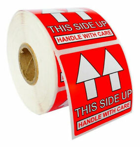 Pre printed This Side Up Labels stickers 2x2 2 X 2 44 Rolls Of 500