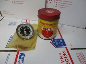 Vintage Stewart warner Portable Hand Tachometer Model 757 w Pre owned Fast Ship