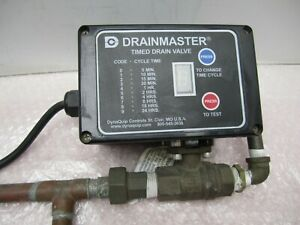 Dynaquip Drainmaster Auto Timed Drain Valve Timer Control 5min 24hr Used Pull