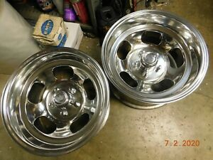 Polished 15x8 1 2 Western Slot Mag Wheels Ford Dodge Mags Mopar Chevelle Gto Ss