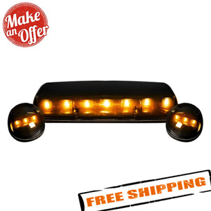 Recon 264155bk Smoked Lens Amber Led Cab Roof Lights For 2002 2007 Gmc Chevy