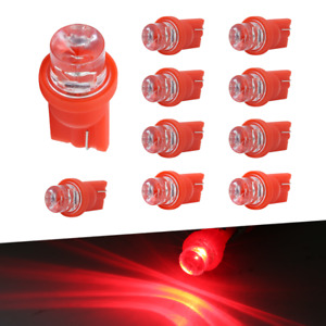 5 Pairs T10 194 168 Led Red License Plate Dome Interior Inside Car Light Bulb