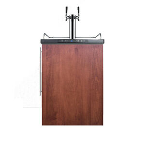 Summit Sbc635mbifrtwin 24 w 6 Cu Ft Double Tap Built in Stainless Steel