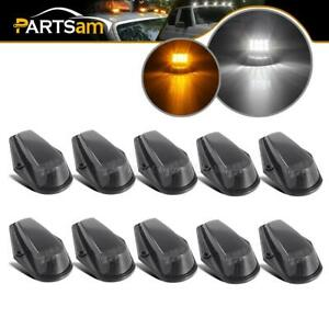 5xblack white 5xblack yellow Led Cab Marker Roof Clearance Lights For Ford 73 97