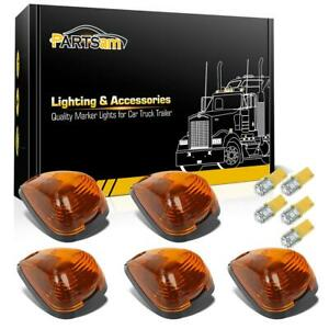 5 Set Amber Cab Marker Clearance Light 264143am 161 3528 Amber Led Base For Ford