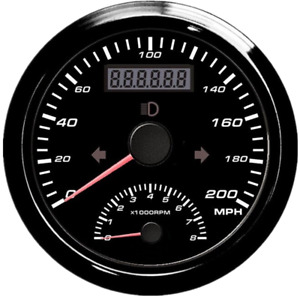 85mm Universal Gps Speedometer With Tachometer 200 Mph 0 8000rpm For Car Atv Utv