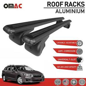 Roof Rack Cross Bars Luggage Carrier Alu Black For Subaru Impreza 2017 2020
