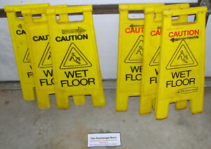 Lot Of 6 Rubbermaid Wet Floor Signs Caution Warning Sign