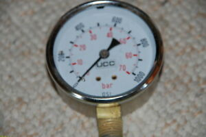 Ucc 0 1000 Psi Pressure Gauge New Old Stock 2 1 2 Inch