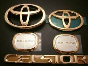 Toyota Ucf 30 31 Celsior Genuine Gold Emblem Pillar Emblem Set Oem Jdm