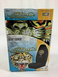 New Ed Hardy By Christian Audigier Tiger Universal Seat Cover Bucket Seat