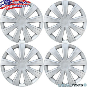 15 Inch Hubcaps Wheel Covers Hub Caps Steel Wheels Retention Ring New Set Of 4