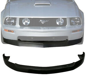 black Pp For 05 09 Ford Mustang V8 Gt 4 6l Pu Front Bumper Lip Spoiler Kit