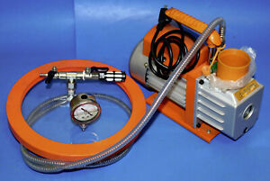 Hbs Single Stage Rotary Vane Vacuum Pump Rs 1 3cfm 1 4hp With Chamber Lid