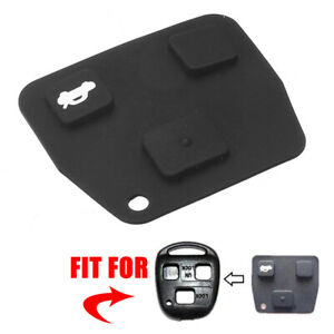 Replacement 2 3 Button Car Remote Key Fob Pad Silicon For Toyota Avensis Lexus