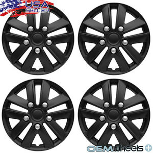 14 Inch Hubcaps Wheel Covers Hub Caps Steel Wheels Retention Ring New Set Of 4