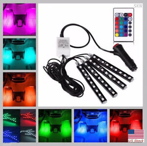 Under Dash Footwell Led Interior Light Kit For All Cars Accent Light Glow Neon U