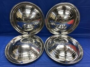 Vintage Set Of 4 1949 50 Plymouth 15 Hubcaps