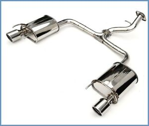 Invidia Q300 Rolled Tip Axle back Exhaust For 2006 2011 Lexus Gs300 Gs350