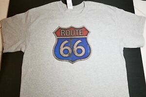 Brandnew Route 66 T shirt Street Sign Americana Transportation Oil Gas Petrol