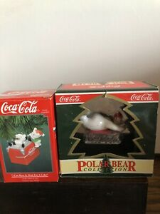 2 Coca Cola Xmas Ornaments In Their Original Boxes Both of them are  year1994