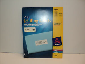 Avery White Mailing Labels For Laser Ink Jet 8160 Partially Used 20 Full Sheets