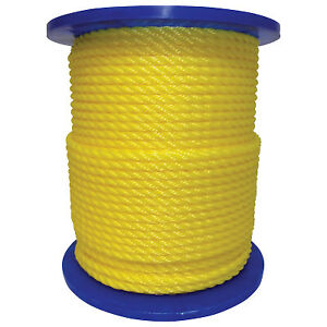 1 2 X 600 Twisted Polylite Yellow 350160yel00600r0285 1 Each