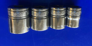 Vintage Snap On Tools Usa 3 8 Drive 4pc Sae 8 Point Double Square Socket Set