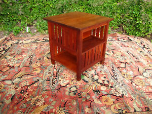 Rare L Jg Stickley Book Table Cabinet W5623 Free Shipping To California