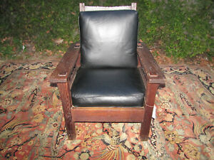 Antique L Jg Stickley Onnendga Shop Early Morris Chair W5569